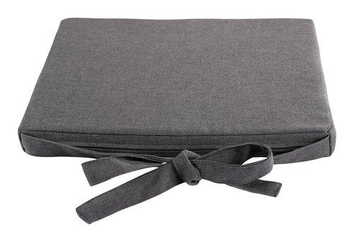 Cojín asiento RIO 43x48x4 gris oscuro