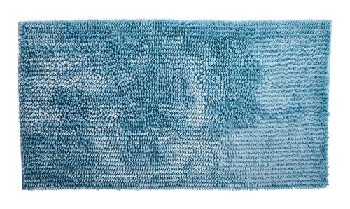 Badematte LUXUS CHENILLE 65x110 blau