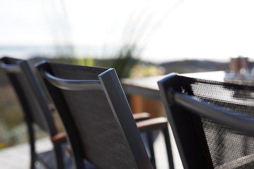 Sedia impilabile SANTIAGO grigio