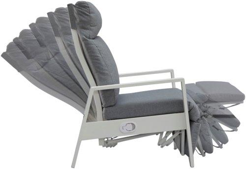 Sillón reclinable VONGE blanco