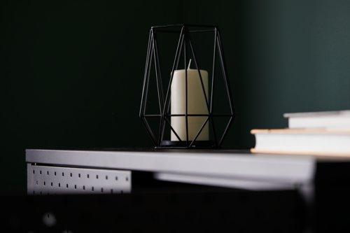 Teelichthalter NORDIC Ø16xH19cm schwarz