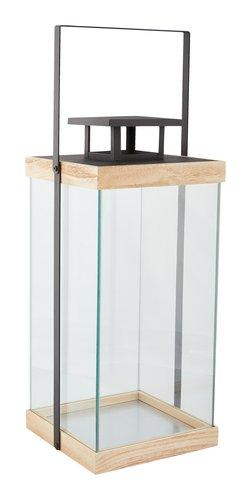 Lanterna SKANDI L18xC18xA36cm vidro