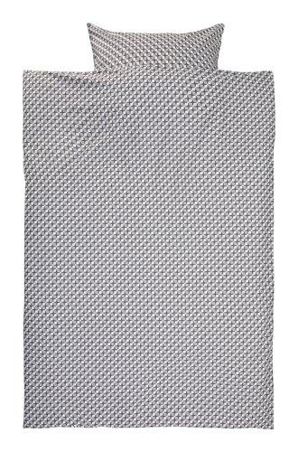 Bettwäsche TWEED 140x200 grau