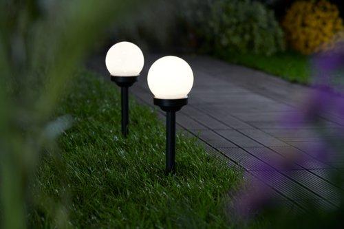 Lámpara solar SOL Ø10xA39 blanco 2 uds/p