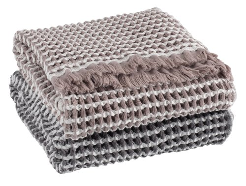 Handdoek IDRE 50x100 grijs SENSE