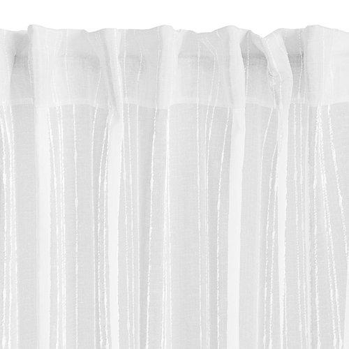 Záclona SKORPA 1x140x300 pruhy biela
