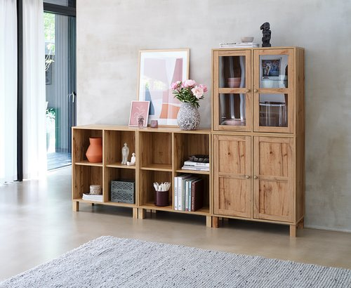 Shelving unit SKALS 4 comp. oak