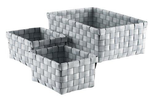 Korb STINUS 3 Stk/Set grau