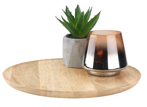 Taca dekoracyjna GERNER Ś30cm drewno