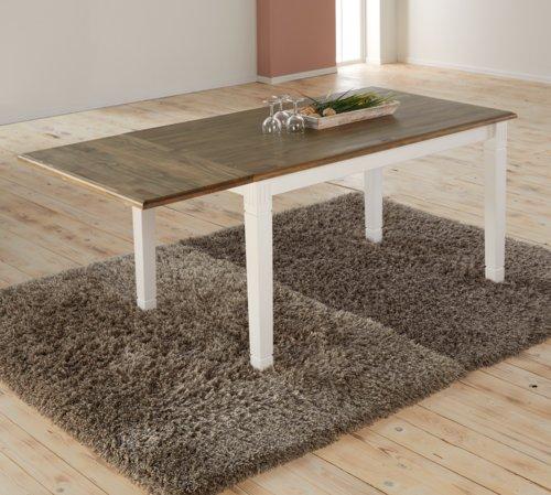 Mesa jantar WIEN 85x140 branco/castanho