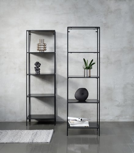 Shelving unit HORBELEV 5 shelves black