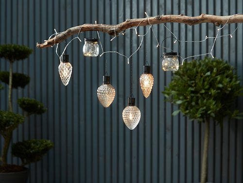 Solar string lights BAKKEHUMLE 22m w/120