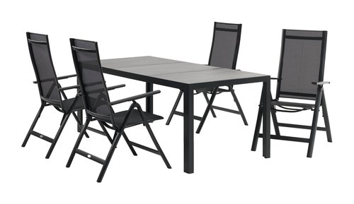 Pöytä MAMRELUND L90xP195 harmaa