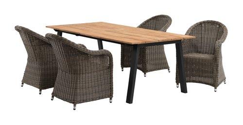 Stůl BARSMARK Š100xD210 týk