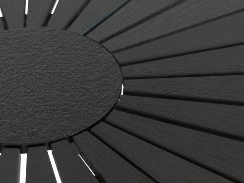 RANGSTRUP Ø110 nero+4 PANDUMBRO naturale