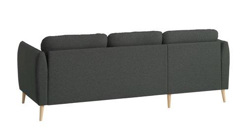 Καναπές με σεζλόνγκ AARHUS αρ.σκούρο γκρ