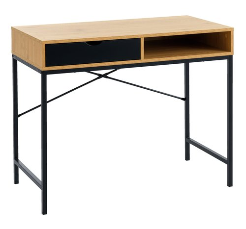 Desk TRAPPEDAL 48x95 oak/black