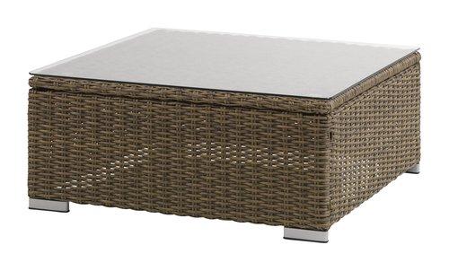 Loungebord DALL B74xL74 grå