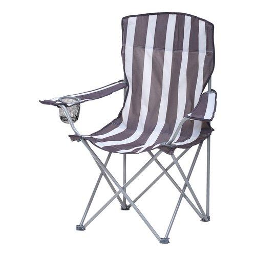 Chaise de camping JESSHEIM gris/blanc