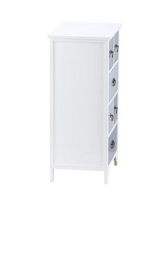 Kommode KLIPPEDE 6 Schubladen weiß/grau