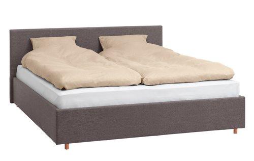 Okvir kreveta EGERSUND 160x200 tam. siva