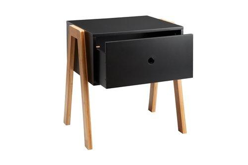 Nachttisch KETTINGE 1 Schublade schwarz