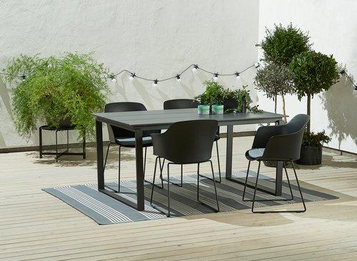 Stôl KOPERVIK Š95xD160 sivá