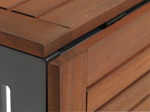 YTTRUP Μ75/126 ξύλο+4 LARVIK γκρι