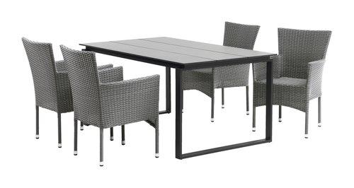 Asztal KOPERVIK SZ95xH160 szürke