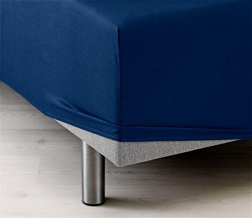 Hoeslaken 140x200x35 blauw