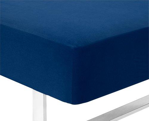 Jerseylaken 120x200x40cm blå