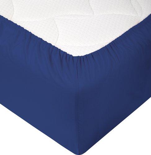Lenzuolo con angoli 90x190x25cm blu