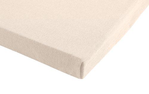 Drap-housse jersey 100x200x28cm blanc