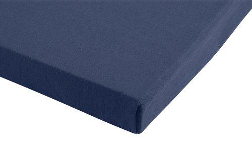 Lenzuolo in jersey 140/160x200x28cm blu
