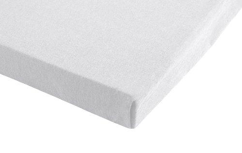 Jersey-Leintuch 140x200x30 weiß