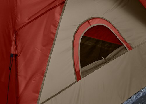 Tent AURSKOG 3-persoons rood/beige