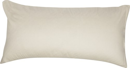 Funda almohada satén 45x85 2 uds natural