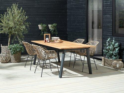 Садовый стол BARSMARK 100x210 см тик