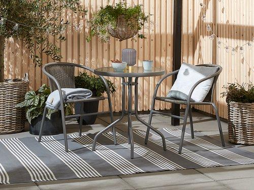 Cafébord BLOKHUS Ø60 grå