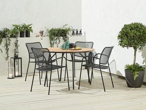 Pöytä RANGSTRUP Ø110 luonnonvärinen