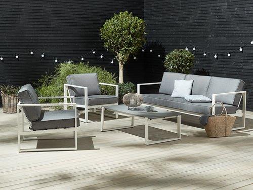 Комплект мебели VONGE 5 места, бял