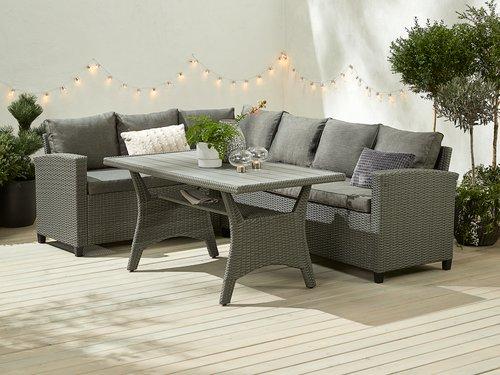 Set lounge ULLEHUSE 6 pers. grigio