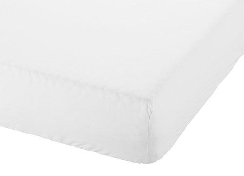 Drap-housse 140x200x28cm blanc