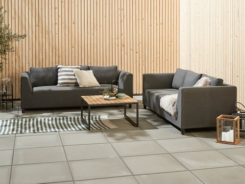 Lounge ODDE 3 pers. gri. sc. all-weather