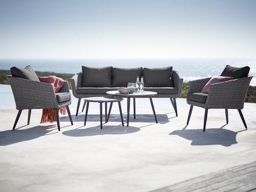 Lounge sofa VEBBESTRUP trosjed siva