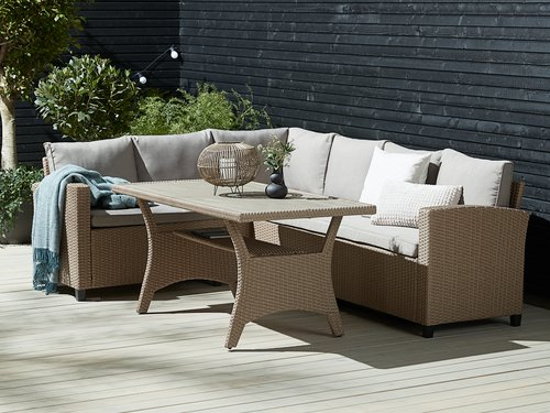 Set muebles jardín ULLEHUSE 6p almacenaj