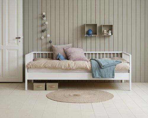 Cadru pentru pat GILLELEJE 90x200 alb