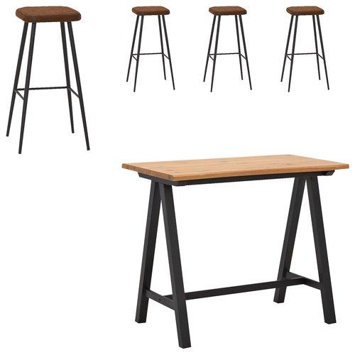 Tavolo bar SANDBY 71x128 rovere/nero