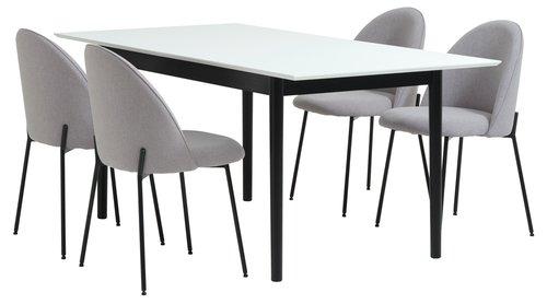 Jídelní stůl MARSTRAND D180/260 bílá/čer