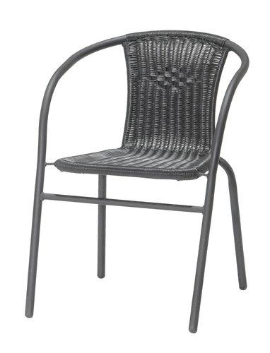 Stacking chair GRENAA black